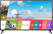 LG 49 Inch Smart TV with webOS
