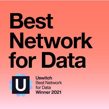 Uswitch Best Network for Data Winner 2021